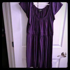 Express flutter sleeve dress